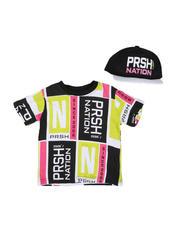 Parish - 2 Pc Color Block T-Shirt & Cap Set (2T-4T)-2576231