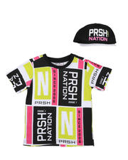 Parish - 2 Pc Color Block T-Shirt & Cap Set (8-20)-2576240