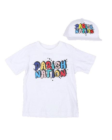 Parish - 2 Pc Parish Nation Rubber Print T-Shirt & Cap Set (8-20)