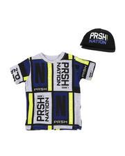 Parish - 2 Pc Color Block T-Shirt & Cap Set (2T-4T)-2576217