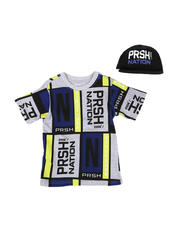 Parish - 2 Pc Color Block T-Shirt & Cap Set (4-7)-2576221