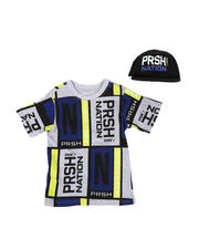 Parish - 2 Pc Color Block T-Shirt & Cap Set (8-20)-2576226