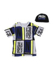 Boys - 2 Pc Color Block T-Shirt & Cap Set (8-20)-2576226