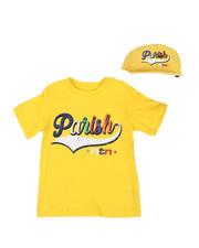 T-Shirts - 2 Pc Parish Print T-Shirt & Cap Set (8-20)-2576293