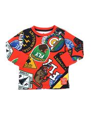 Born Fly - All Over Patch Print Long Sleeve Tee (2T-4T)-2578493
