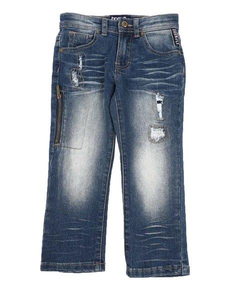 Born Fly - Distressed Zipper Side 5 Pocket Jeans (4-7)