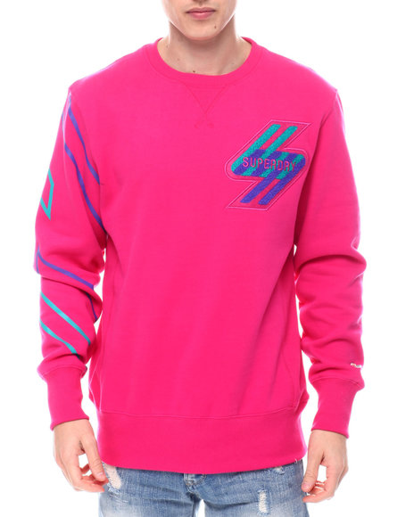 Superdry - Hot Pink SPORTSTYLE NRG CREW Sweatshirt