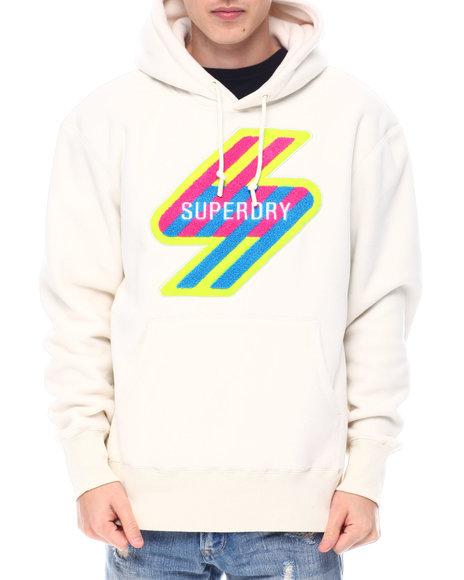 Superdry - Neon Logo SPORTSTYLE NRG FLEECE HOOD