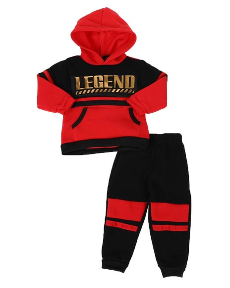 Arcade Styles - 2 Pc Legend Color Block Pullover Hoodie & Jogger Pants Set (Infant)