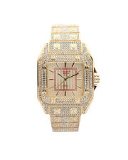 Men - Fully Iced Out Square Up Watch-2581038