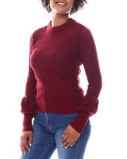 Sweaters - Long Puff Sleeve Sweater-2582559