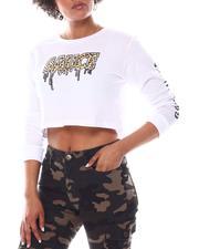 Fashion Lab - Sauce Printed Crop T- Shirt-2582580