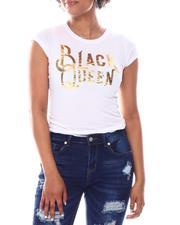 Fashion Lab - Black Queen  Foil  Print Tee-2582634