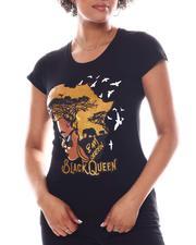 Fashion Lab - Black Queen Screen Print Tee-2582679