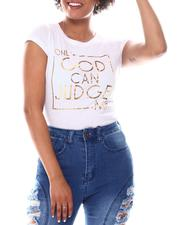 Women - Only Good  Foil  Print Tee-2582772