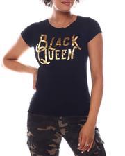Fashion Lab - Black Queen  Foil  Print Tee-2582798