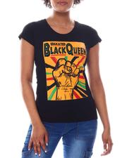 Fashion Lab - Educated Black Queen Printed Tee-2582803