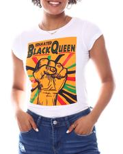 Fashion Lab - Educated Black Queen Printed Tee-2582829