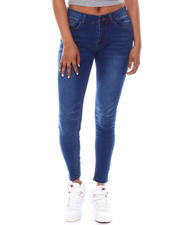 Bottoms - Mid rise Whisker Super Soft Rayon Jeans-2583071