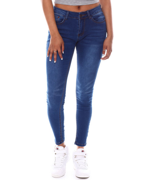 Fashion Lab - Mid rise Whisker Super Soft Rayon Jeans