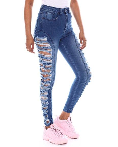 Fashion Lab - High Waist Side Ripped Jeans