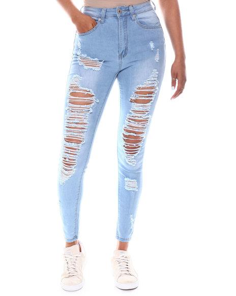 Fashion Lab - High Waist Rip Jeans