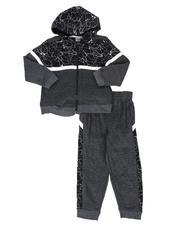 Sets - 2 Pc Color Block Zip Up Hoodie & Jogger Pants Set (4-7)-2577831