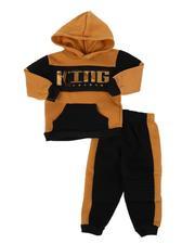 Infant & Newborn - 2 Pc King Color Block Pullover Hoodie & Jogger Pants Set (Infant)-2577962