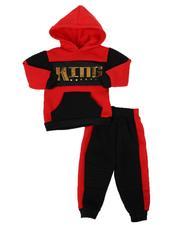 Infant & Newborn - 2 Pc King Color Block Pullover Hoodie & Jogger Pants Set (Infant)-2577966