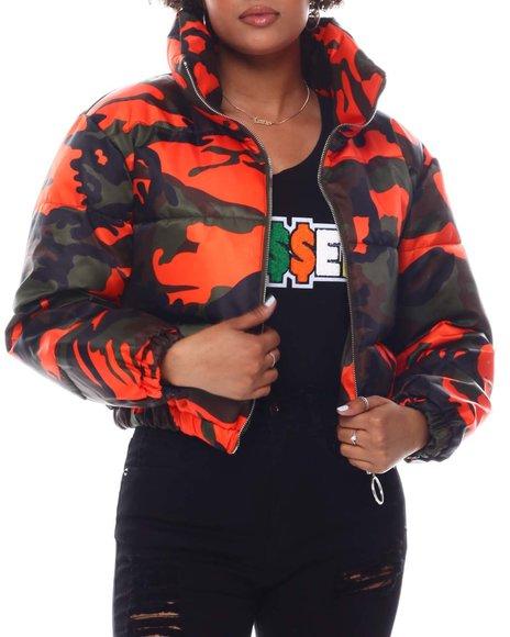 Fashion Lab - Puffer Camo Jacket