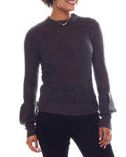 Women - Long Puff Sleeve Sweater-2582554