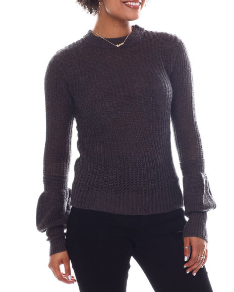 Fashion Lab - Long Puff Sleeve Sweater