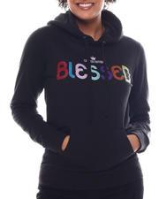 Fashion Lab - Blessed Printed Hoodie-2582951