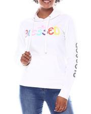 Fashion Lab - Blessed Printed Hoodie-2582965
