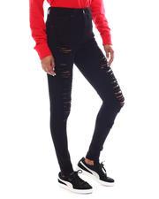 Bottoms - High Waist Rip Jeans-2583164