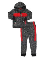 Sets - 2 Pc Marled Full Zip Hoodie & Jogger Pants Set (4-7)-2577970