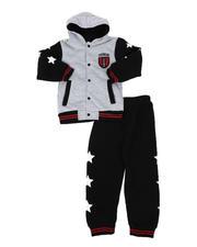 Sets - 2 Pc Slam Basketball Button Down Hooded Varsity Jacket & Jogger Pants Set (4-7)-2577776