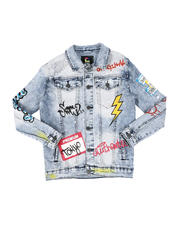 Arcade Styles - Name Tag Graffiti Jacket (8-18)-2579732