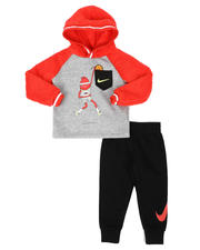 Nike - 2 Pc Zig Zag Pullover Hoodie & Jogger Pants Set (2T-4T)-2579229
