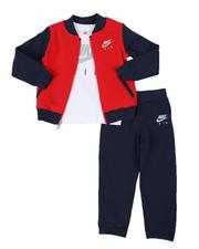 Boys - 3 Pc Nike Air Fleece Pullover, Logo Tee & Jogger Pants Set (4-7)-2579366