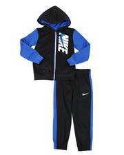 Sizes 4-7x - Kids - 2 Pc Color Block Dri-Fit Therma Full Zip Hoodie & Jogger Pants Set (4-7)-2579506
