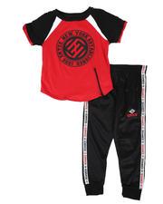 Boys - 2 Pc Color Block Tee & Jogger Pants Set (4-7)-2579555