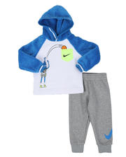 Nike - 2 Pc Zig Zag Pullover Hoodie & Jogger Pants Set (2T-4T)-2579225