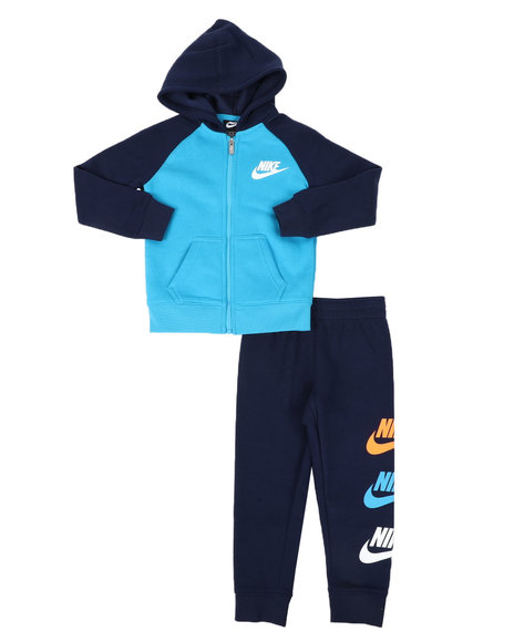 Nike - 2 Pc Multi Futura Full Zip Hoodie & Jogger Pants Set (4-7)