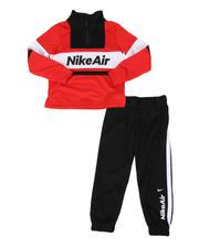 Boys - 2 Pc Nike Air Color Block Half Zip Pullover & Jogger Pants Set (4-7)-2579387