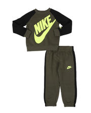 Sets - 2 Pc Oversized Logo Crew Neck Pullover & Jogger Pants Set (4-7)-2579449