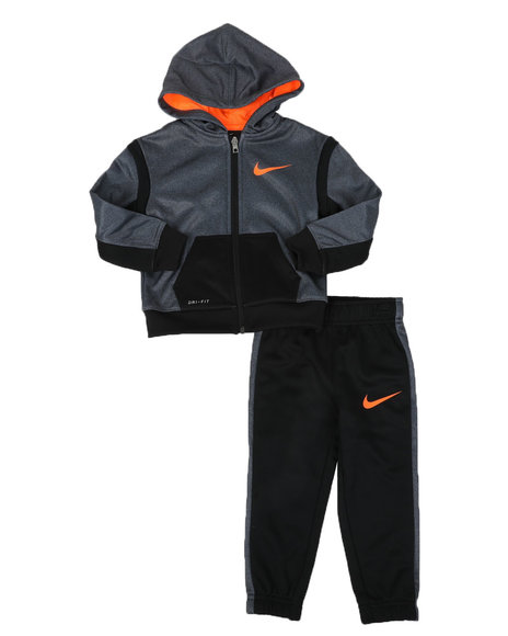 Nike - 2 Pc Nike Speckle Therma Dri-Fit Hoodie & Jogger Pants Set (2T-4T)