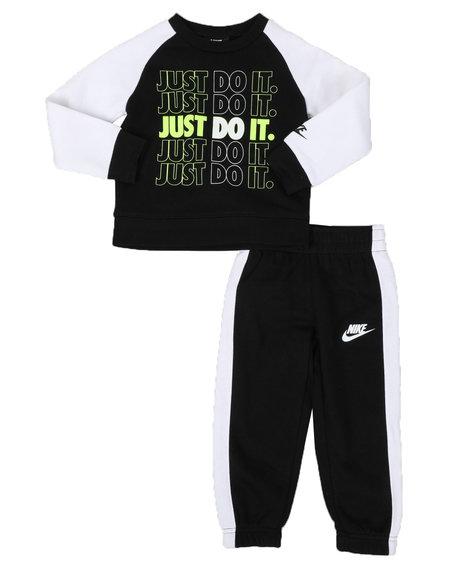 Nike - 2 Pc JDI Color Block Fleece Pullover & Jogger Pants Set (2T-4T)