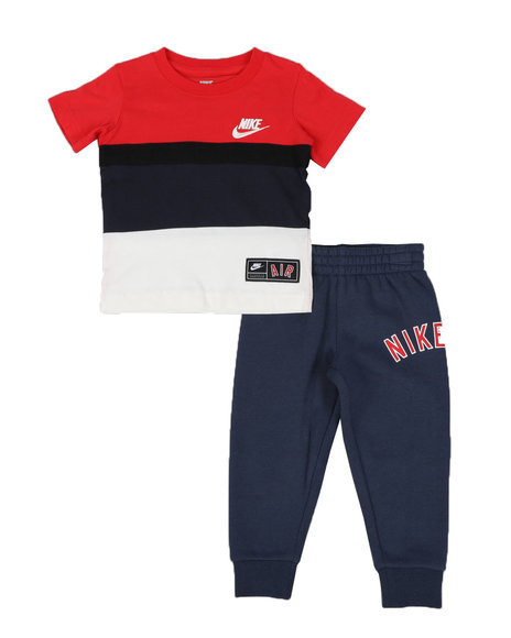 Nike - 2 Pc Nike Air Color Block Tee & Jogger Pants Set (2T-4T)