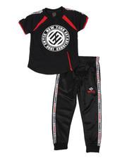 Boys - 2 Pc Color Block Tee & Jogger Pants Set (4-7)-2579559